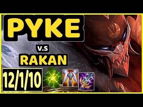TEMPOS (PYKE) vs RAKAN - 12/1/10 KDA BOTTOM SUPPORT GAMEPLAY - NA Ranked DIAMOND
