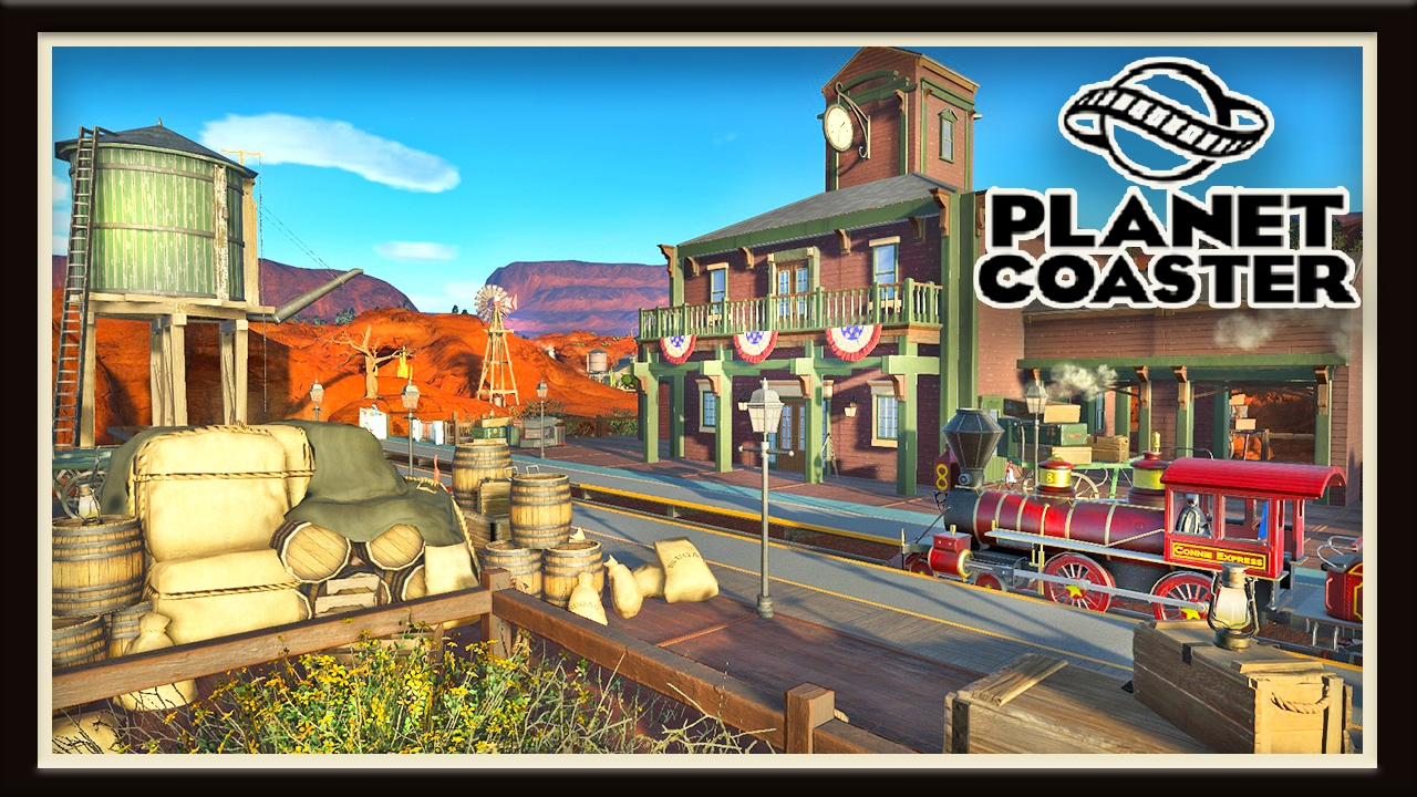 Planet coaster building tips and western ride station for Plante western