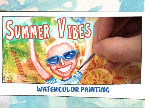 Painting SUMMER VIBES with Watercolor!