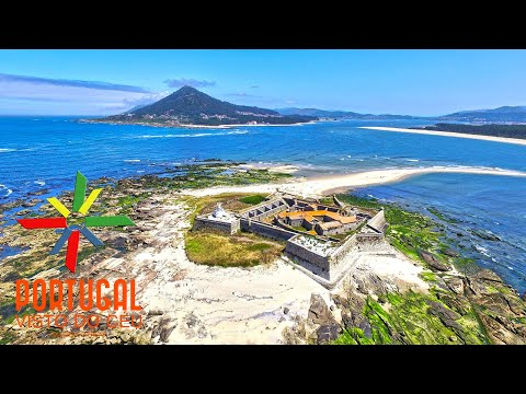 Moledo Beach and Insua Fort aerial view - Caminha