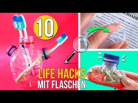 TOP 10 LIFEHACKS mit FLASCHEN * KREATIVES LIFEHACKS mit FLASCHEN
