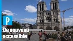 Le parvis de Notre-Dame de Paris rouvre au public : « Ça fait du bien aux yeux et à l'âme »