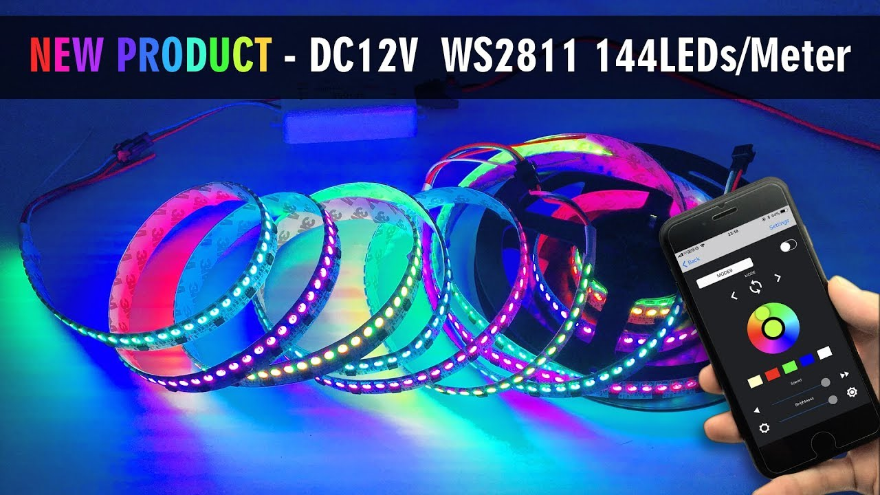 How To Use APP Control New Style DC12V WS2811 144LEDs Addressable arduino  led strip