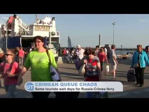 Crimean queue chaos: Angry Russian tourists forced to wait days for Russia-Crimea ferry