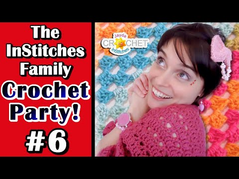 Canada Day / Independence Day Week – Granny Star – InStitches Family Crochet Party – Ep. 6
