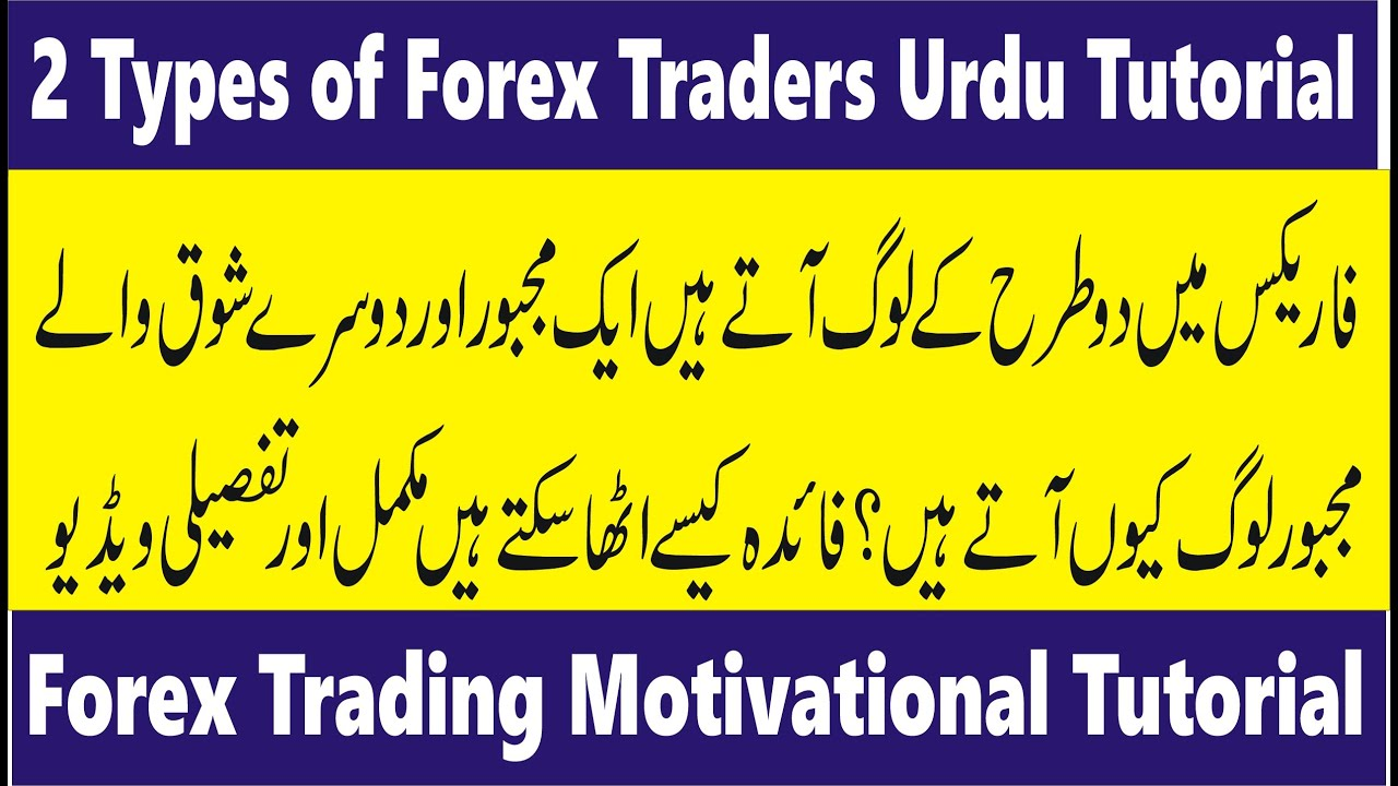 Short Term Earning from Forex   2 types of traders in Urdu and Hindi by Tani Forex for beginners