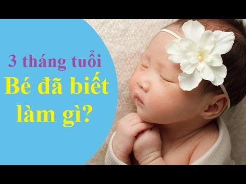 3 tháng tuổi bé đã biết làm gì?