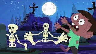 Un pequeño zombi | Caricatura miedo para niños | rima de guardería | One Little Zombie | Scary Video