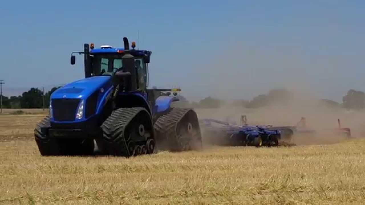 New Holland Tractor People : New holland t hp with tracks pulling landoll disc