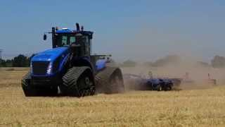 New Holland T9 700hp with tracks pulling Landoll 6230 disc