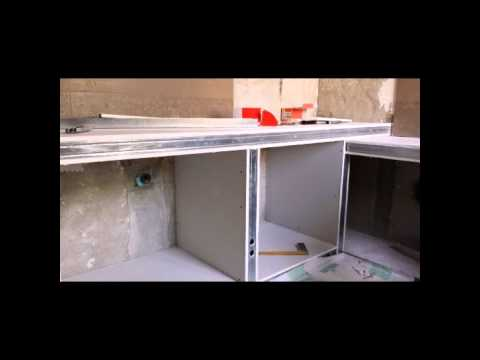 Controsoffitto,bagno in cartongesso e resina - YouTube