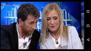 Cristina Cifuentes enseña a Pablo Motos a usar Periscope en El Hormiguero
