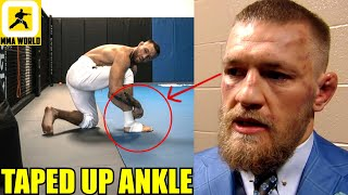 Conor McGregor just presented evidence to prove that his leg was injured before fight vs Poirier