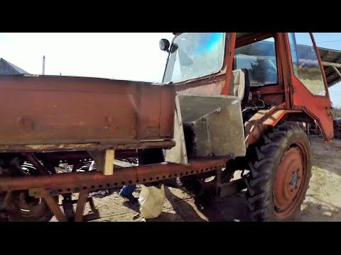Home-made wood chipper for  tractor