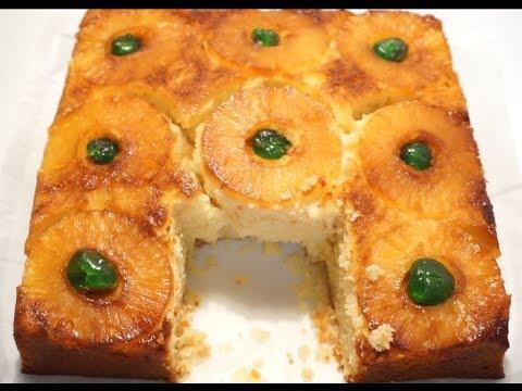 gÂteau-renversÉ-À-l'ananas-caramÉlisÉ-(la-recette-la-plus-simple)