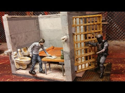 The Walking Dead Lower Prison Cell Building Set Review