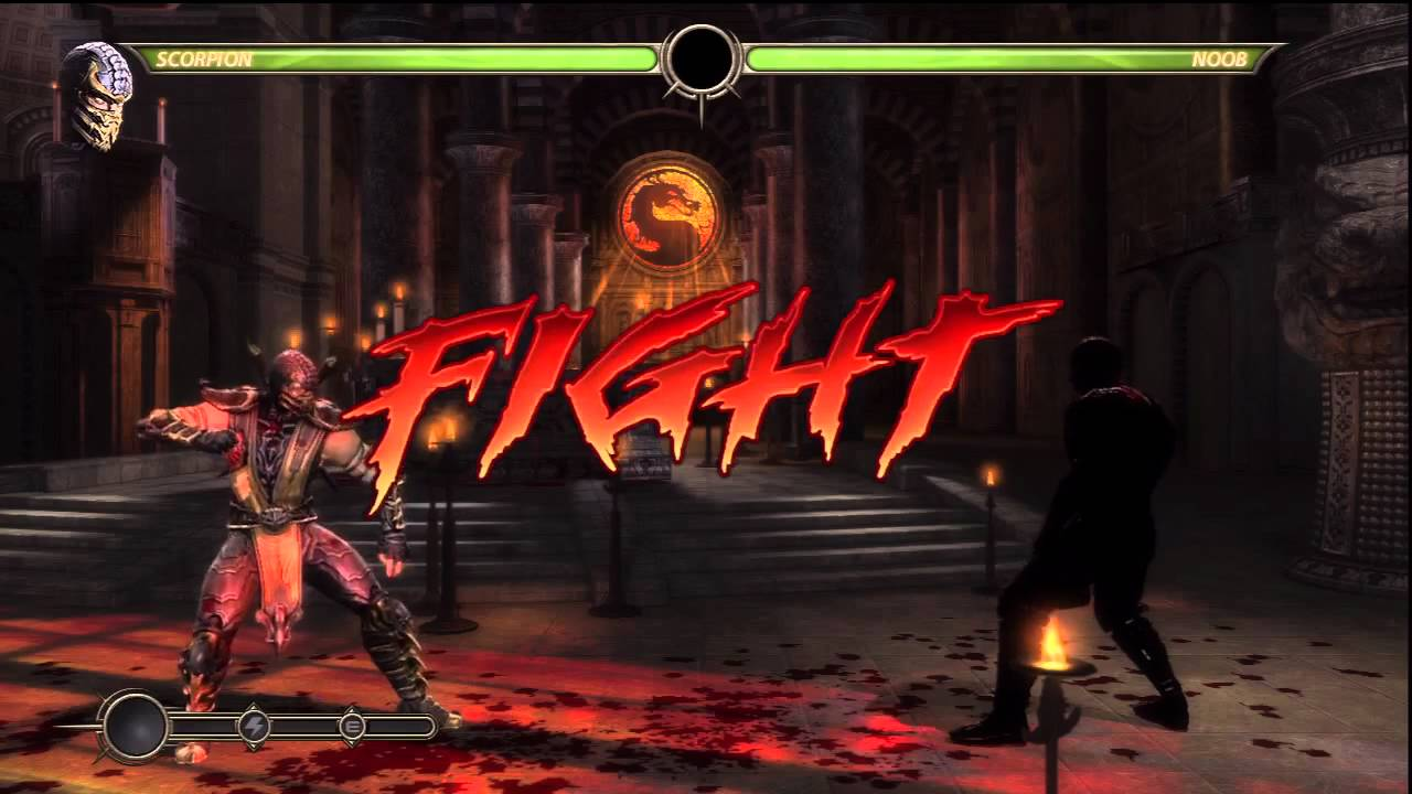 Mortal Kombat 9 Hd Secret Noob Saibot Fight Youtube