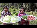 Village Food | Mutton Curry with Cabbage So Yummy Recipe | Village Style Mutton Curry Recipe Cabbage