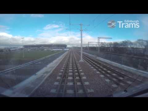 Edinburgh Trams Test Run: Edinburgh Airport - York Place