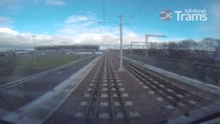 Edinburgh Trams Test Run: Edinburgh Airport - York Place