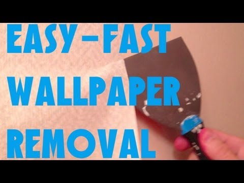 EASIEST FASTEST WAY TO REMOVE WALLPAPER GUARANTEED - YouTube