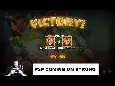 JT's Free 2 Play Over 600 Lost Battlefield Points After Day 4 PUMPED Castle Clash