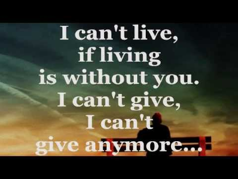 AIR SUPPLY  WITHOUT YOU Lyrics