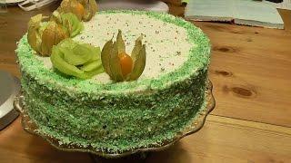 Торт зелёный.. со шпинатом.