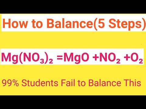 Mg(NO3)2=MgO +NO2+O2 Balanced Equation||Magnesium Nitrate=Magnesium Oxide+Nitrogen Dioxide+Oxygen