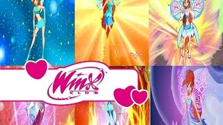 Winx Club-Bloom all transformations up to Tynix