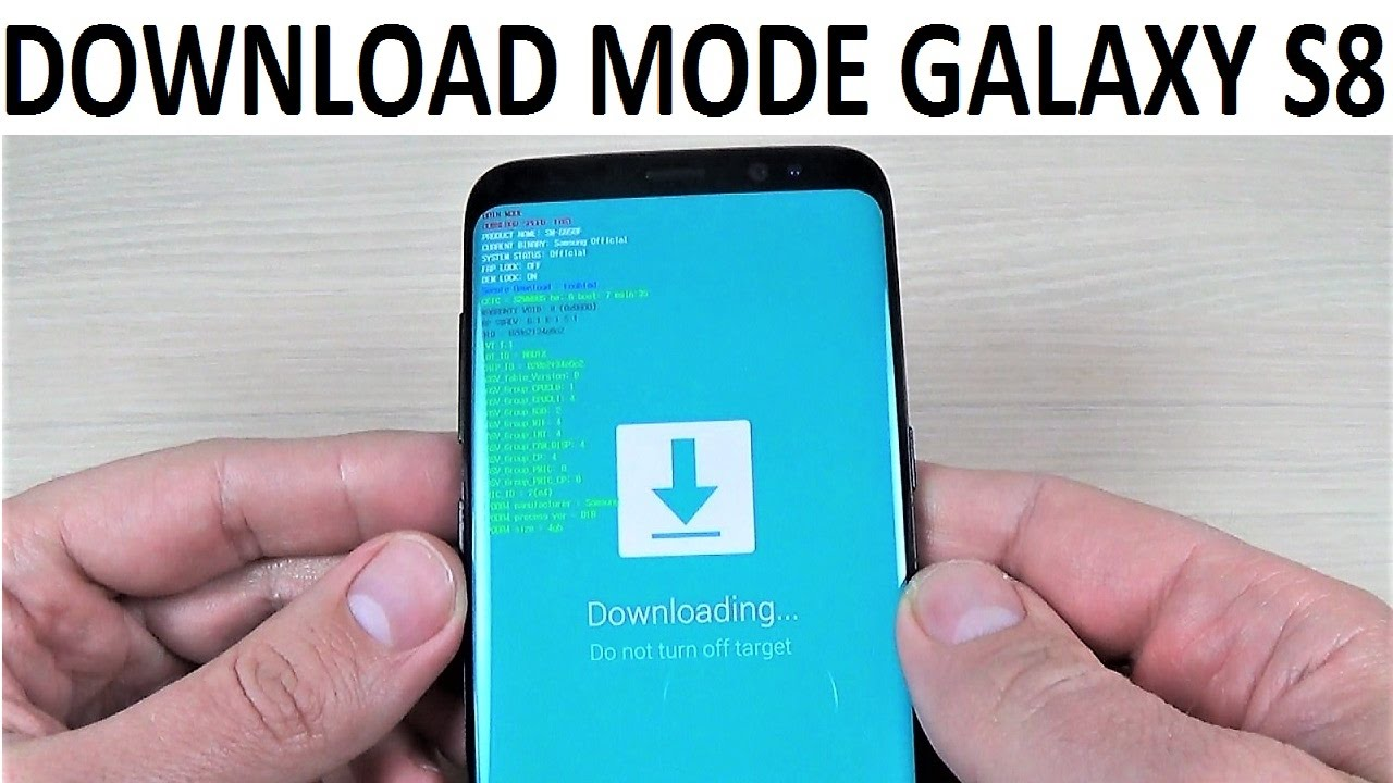 ENTER DOWNLOAD MODE Samsung Galaxy S8, S9 & NOTE 8 | How to