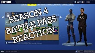 Fortnite Saison 4 Battle Pass Réaction avec RyanYags
