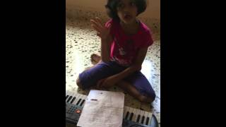 Sanvi singing Hirvya Hirvya April/May 2015