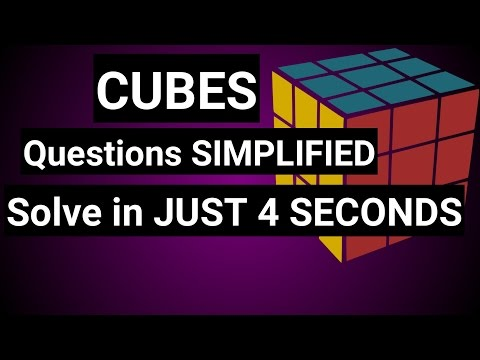 CUBES - Find number of cubes painted from 1 side or 2 sides, 3 sides or not painted