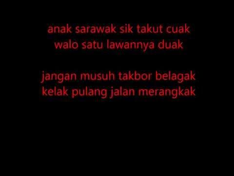 Lirik lagu Ngap Sayot Bujang Senang Sarawak