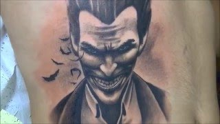 Joker tattoo - time lapse
