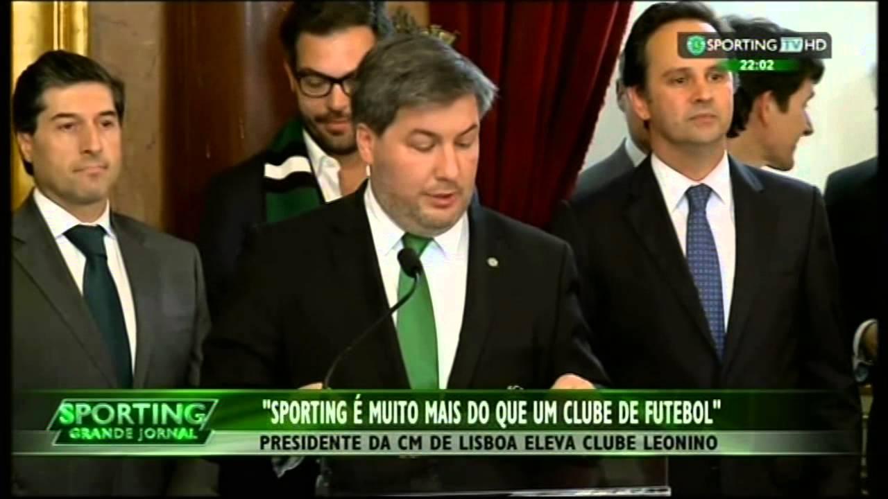 Sporting recebido nos Paços do Concelho, depois da 16ª vitória na Taça de Portugal em 2015.