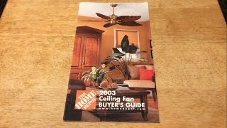 Home Depot Ceiling Fan Selection Guide/Catalog 2003