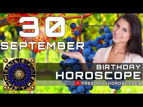September 30 - Birthday Horoscope Personality