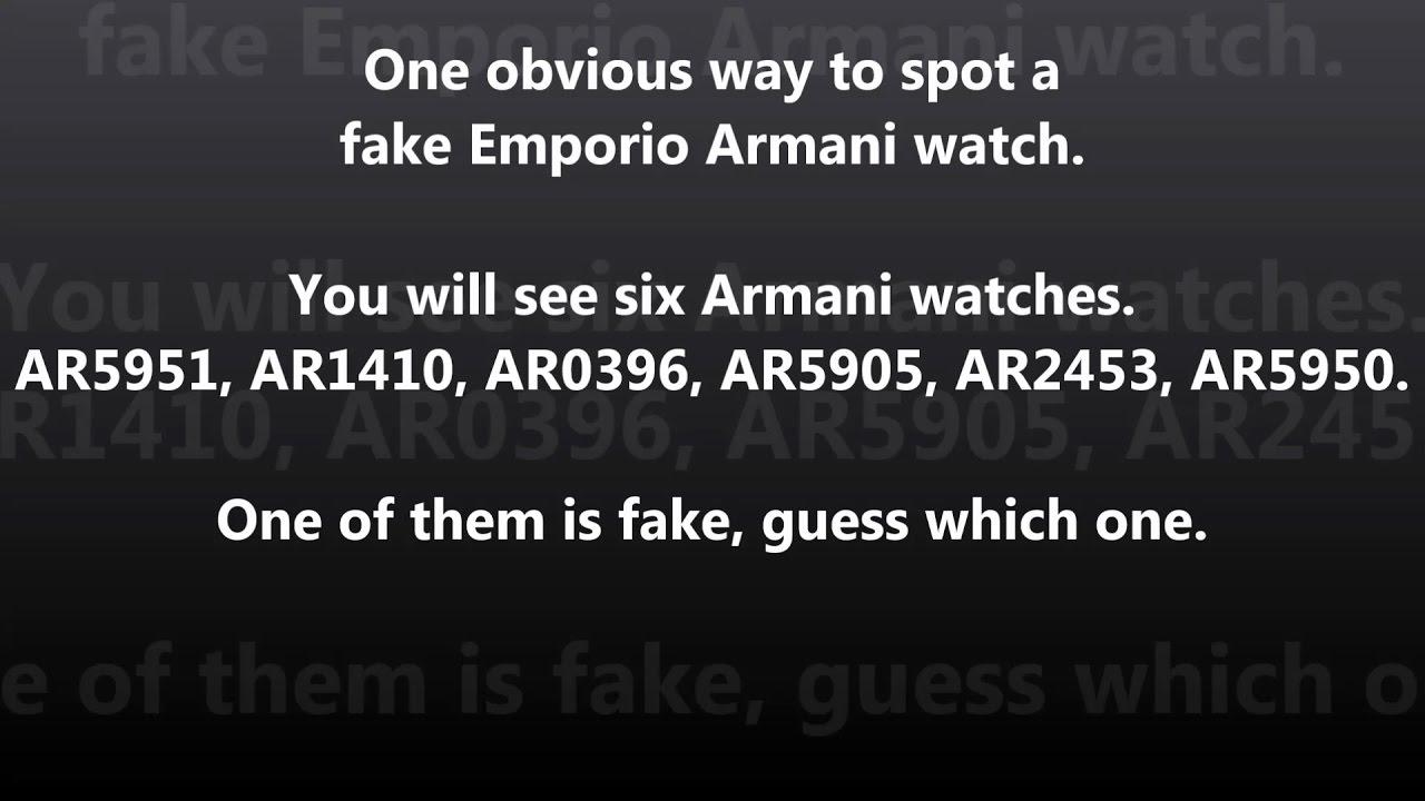 d8f79120de Emporio Armani - Spot An Obvious Fake - YouTube