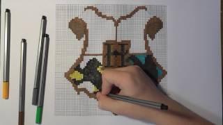 Pixel Art [Герб Хогвартса]