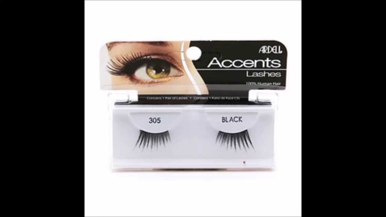 21e805eec0d Ardell Accent Lashes, Black #305 - YouTube