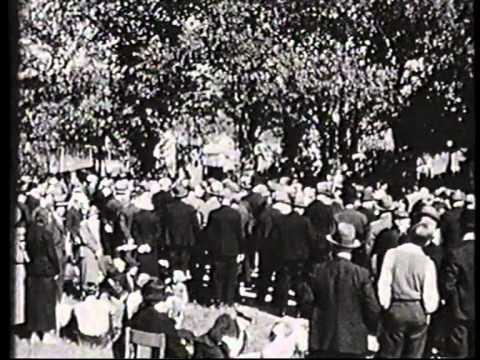 Statsminister Thorvald Stauning i Lemvig 6. juni 1936