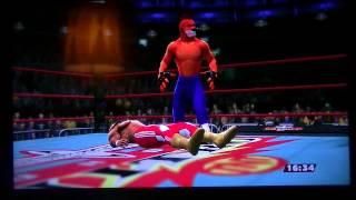 WWE 2K14 Crash Bandicoot vs Mr T Signals Match