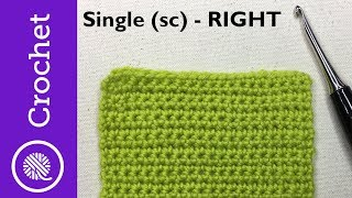 How to Single Cro¢het - Beginner Crochet Lesson 1 - Right Handed (CC)