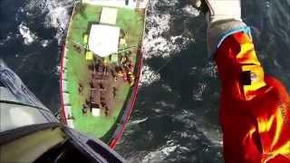 Aeroevacuación de una tripulante en Santa Cruz