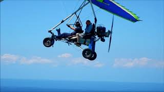 Awesome Microlight flying at Ballito, South Africa 2018