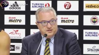 Fenerbahçe erkek basketbol takımının genel menajeri Gherardini :