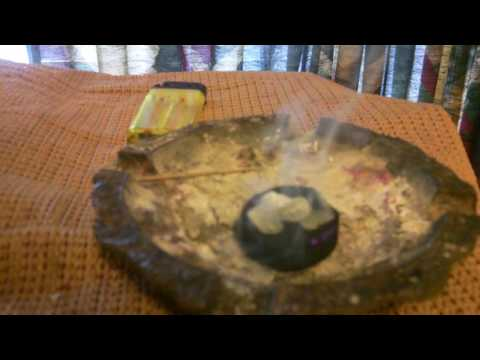 Burning  Copal  Incense  Peaceful  Energy !!!!