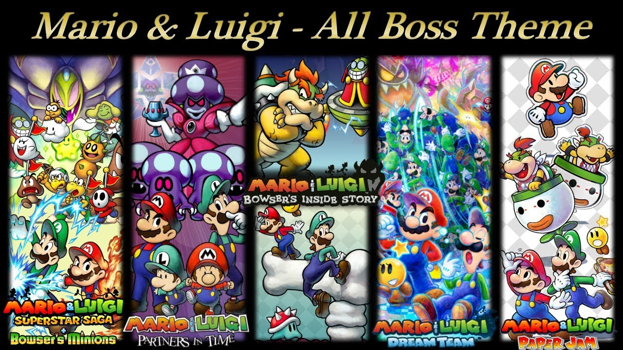 Mario Luigi Ost All Boss Battle Theme Dx By Dbaruch97
